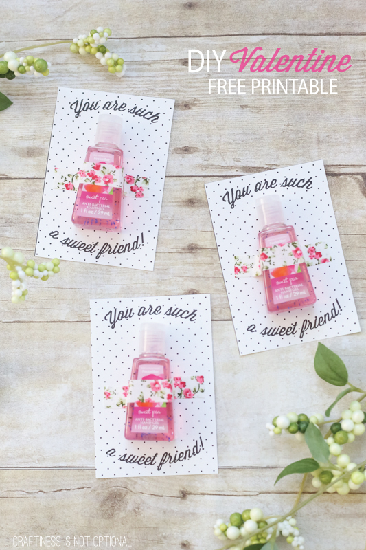 DIY valentines with free printables!