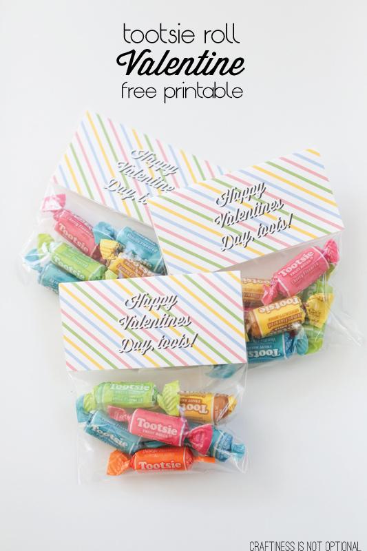 tootsie roll Valentine FREE printable!
