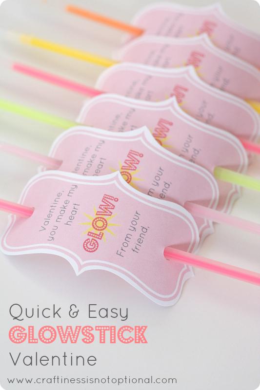 You make my heart GLOW-glowstick valentine-FREE Printable!