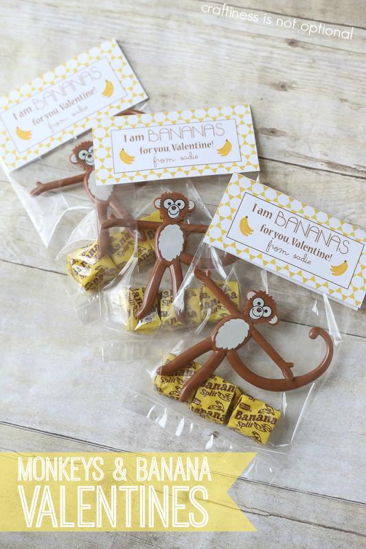 Monkey valentine idea and FREE printable!