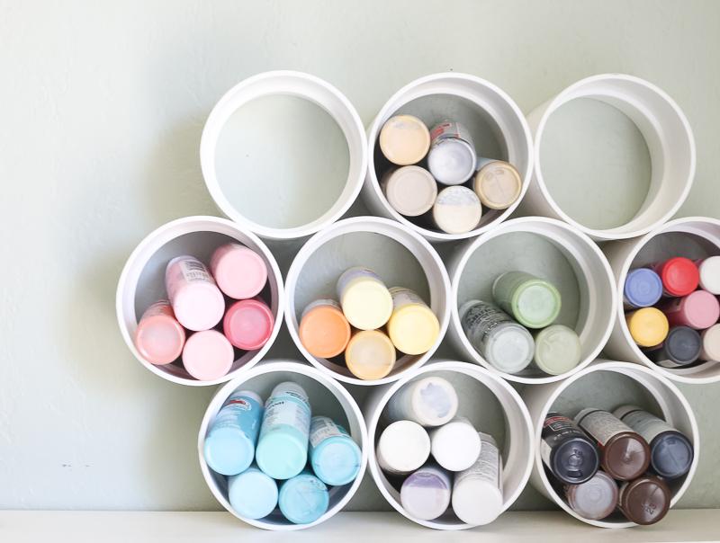 easy DIY paint organizer