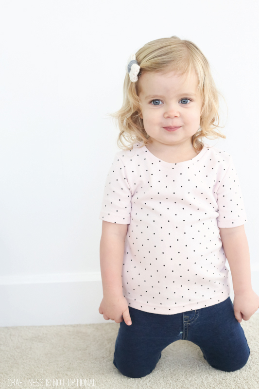 upcycled polka dot tee