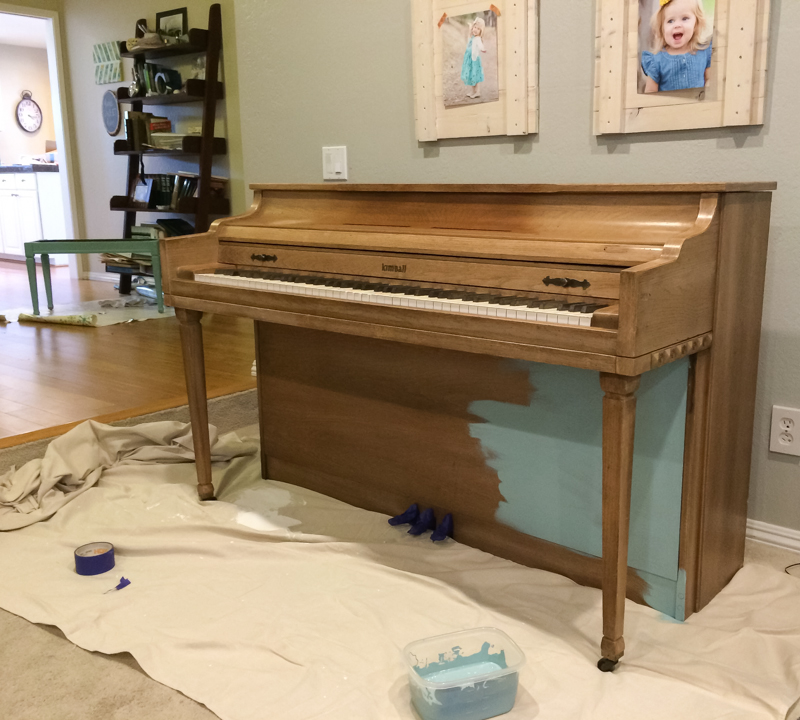 how to paint a piano with chalk paint