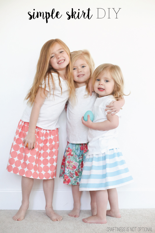 simple skirt DIY