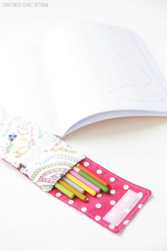 color me fabric pencil pouch