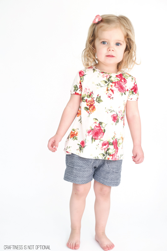 chambray shorts and a floral nessie top