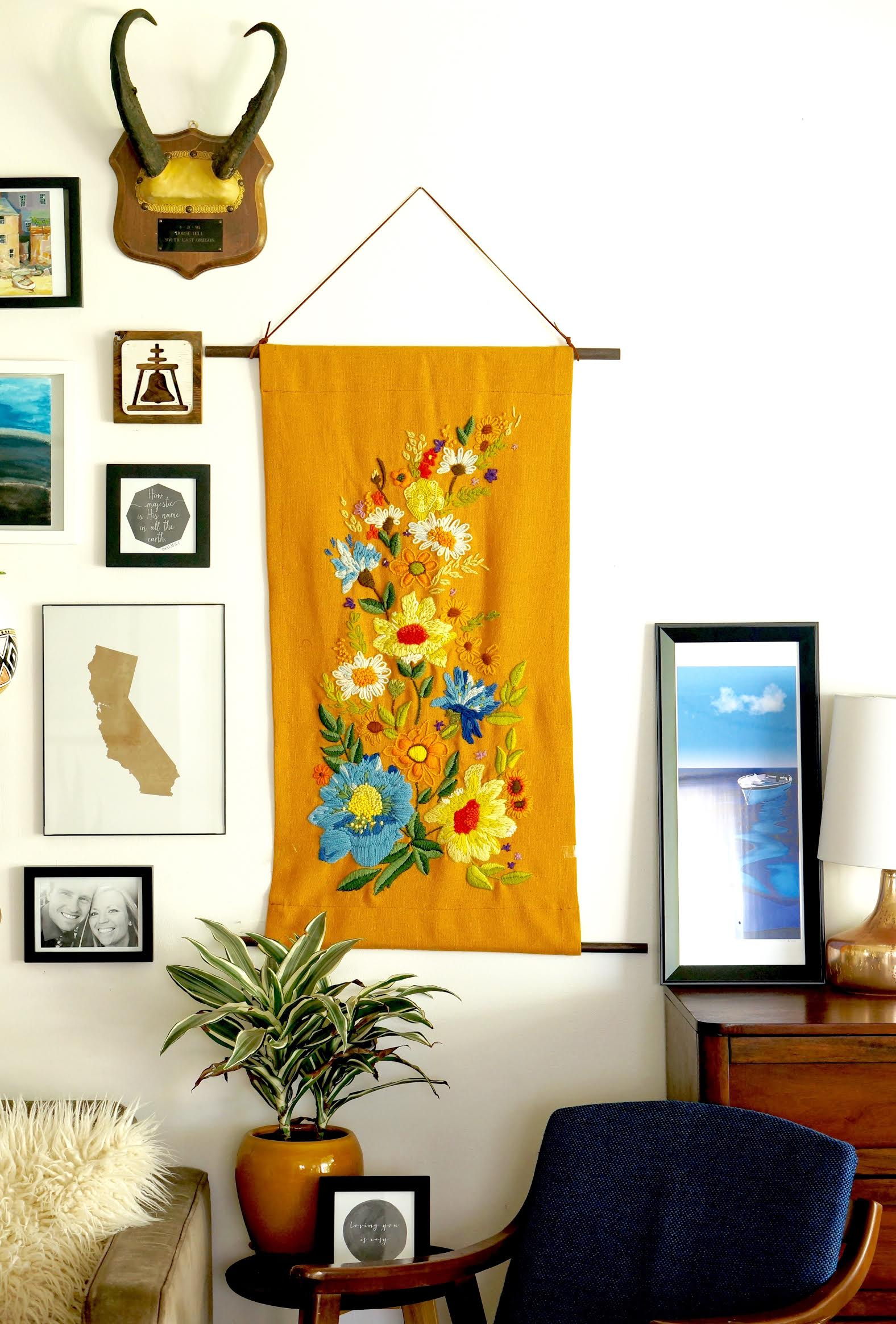 Needlepoint tapestry wall hanging DIY-Caila Made