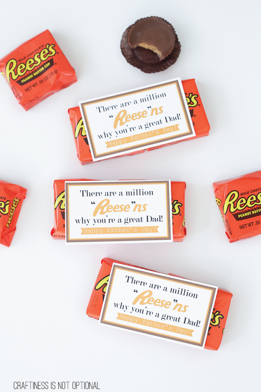 reese's fathers day FREE printable
