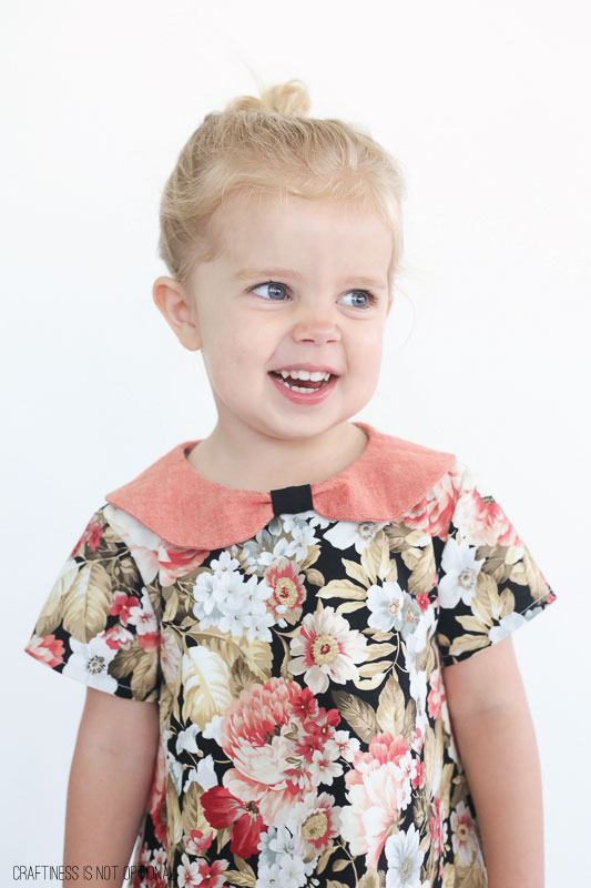 granny floral Norah dress || sewn by craftiness is not optional