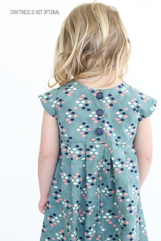 teal cotton & steel geranium dress