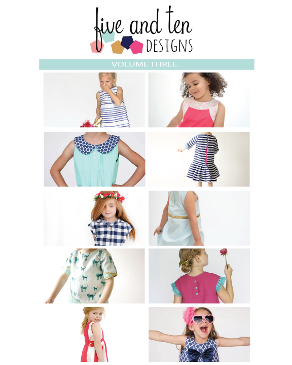 5 and 10 Designs Volume Three is out! 1 Pattern, 5 Designers, 10 Pattern Alterations!
