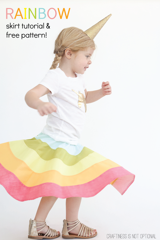 rainbow-skirt-tutorial-and-free-pattern-#rainbow-#rainbowskirt