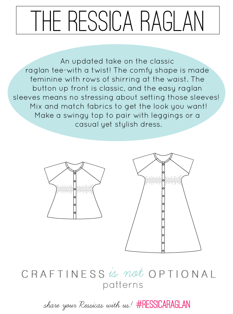 the ressica raglan tunic and dress pattern! new pattern from craftiness is not optional