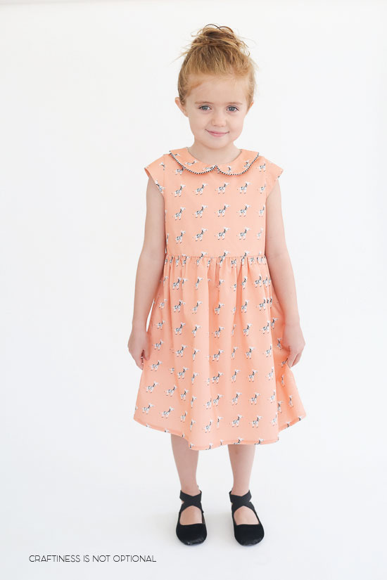 coral zebra 5&10 basic dress