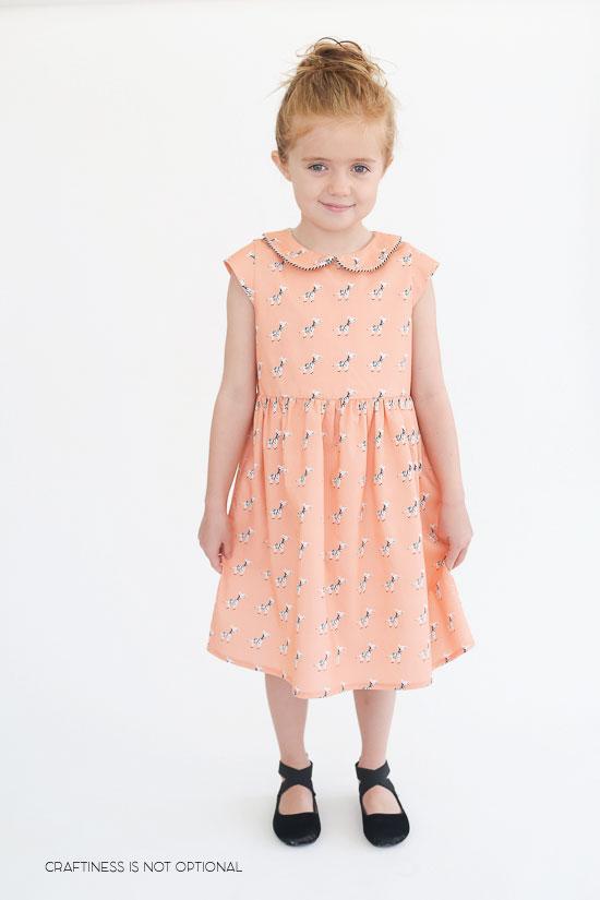 coral zebra 5&10 basic dress
