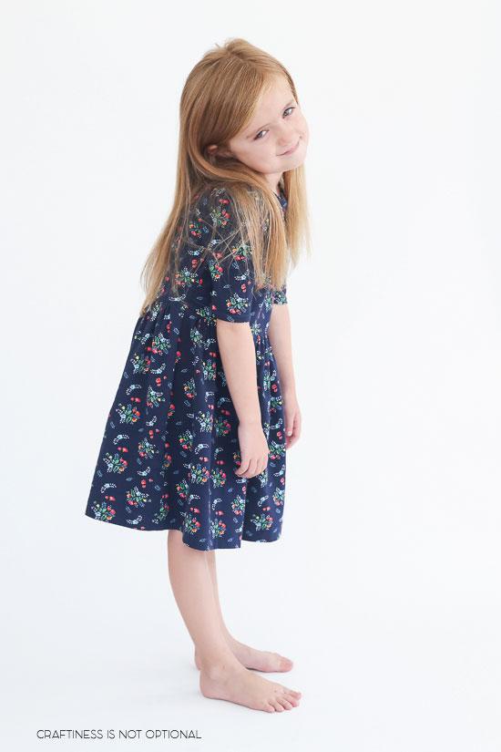 navy floral kensington dress