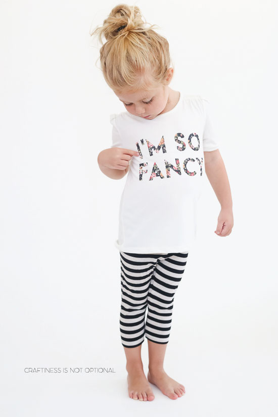 I'm so Fancy floral tee-free floral transfer!