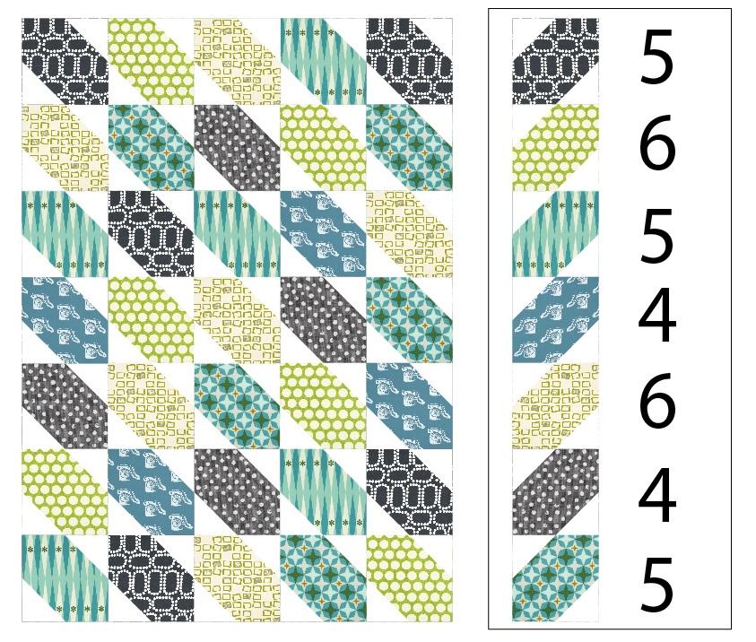 baby boy quilt layout