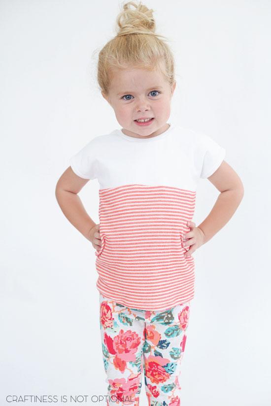 C's comfy kindergarten outfit