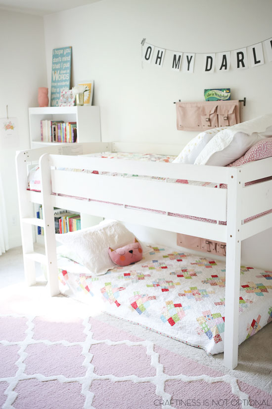 bright and happy shared girls room