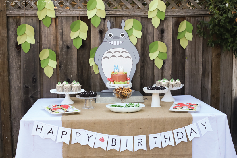 Sadie's My Neighbor Totoro birthday party