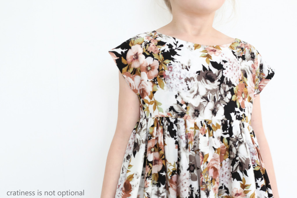 cap sleeve floral swingy dress