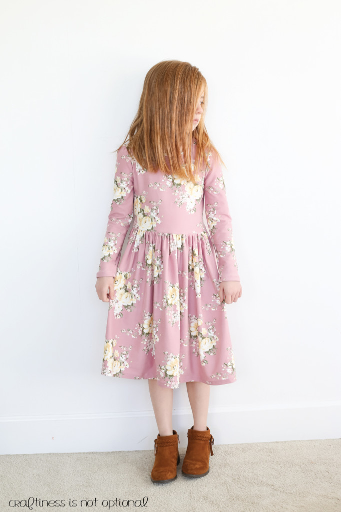 lavender floral kensington dress