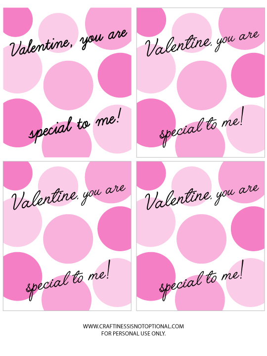 EXTRA special Valentines with free printable!