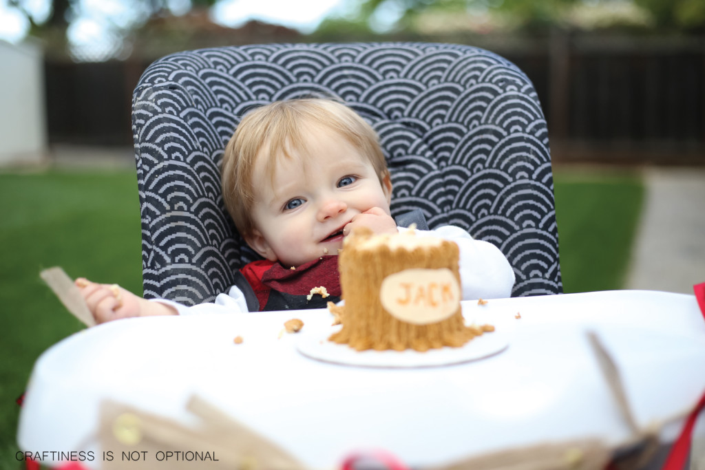 a lumberJACK first birthday party