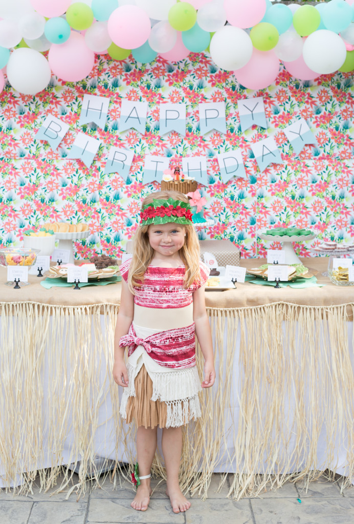 MOANA themed birthday party