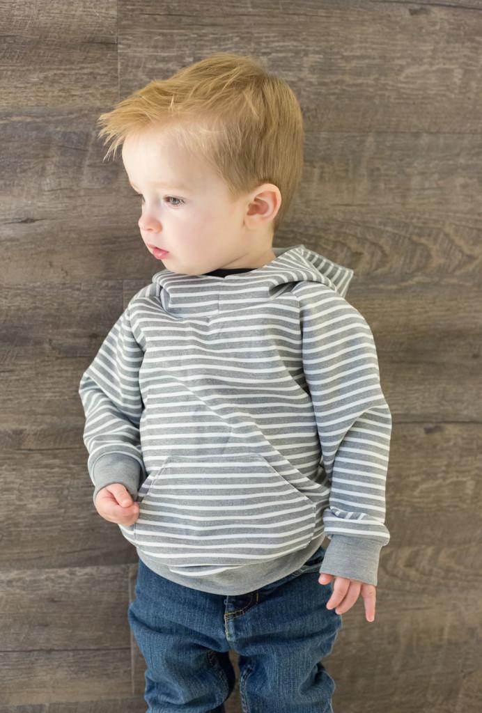 YOTB grey striped sweatshirt