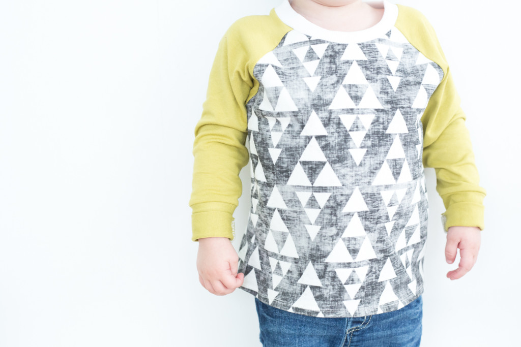 YOTB grey and green triangle raglan