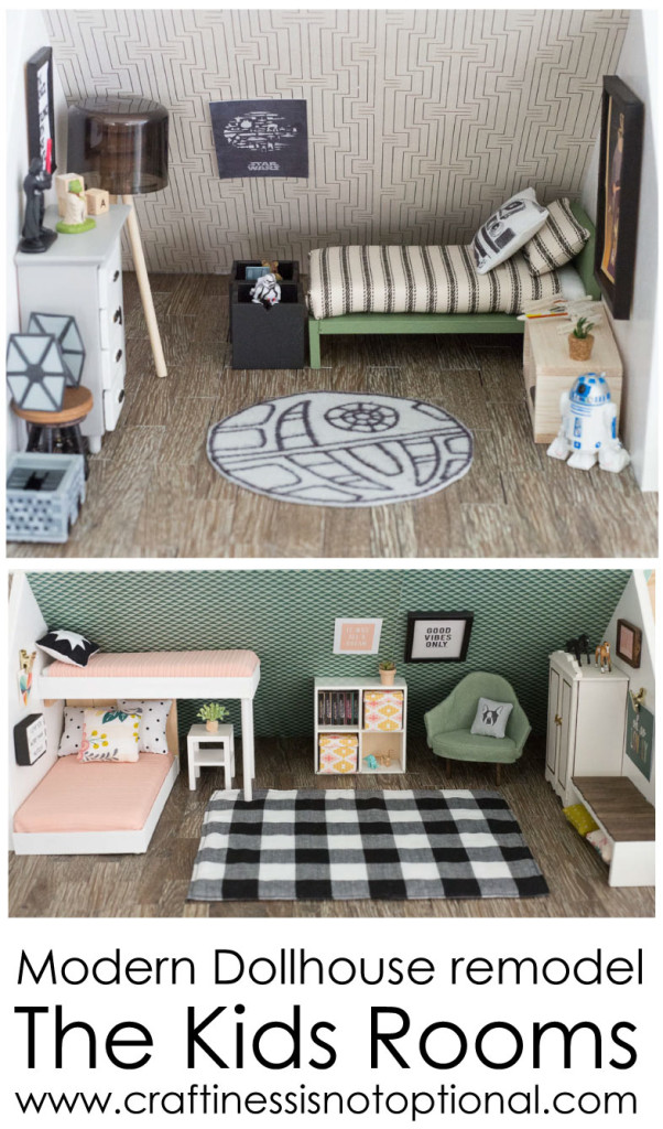 Modern dollhouse remodel-kids rooms