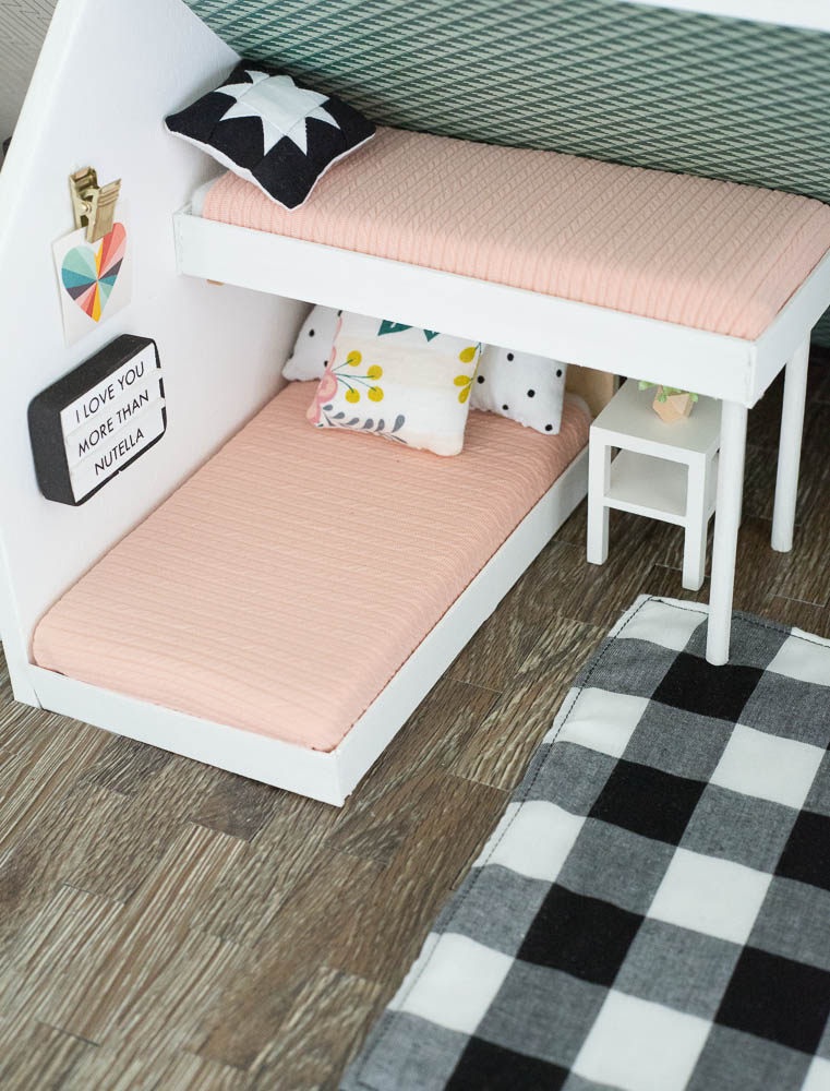 modern dollhouse makeover